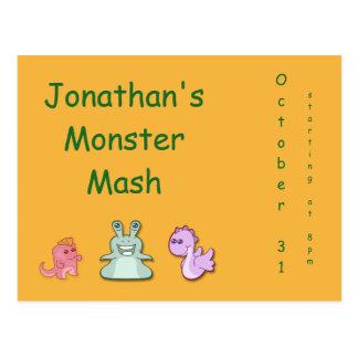 Monster Mash Invitation Postcard