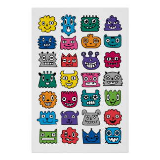 Monster Mash ipad mini Poster