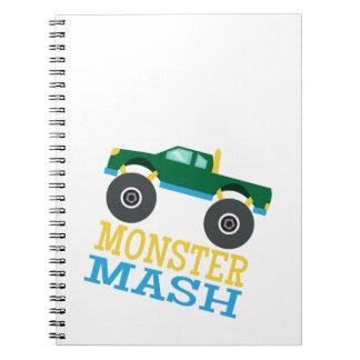 Monster Mash Spiral Note Books