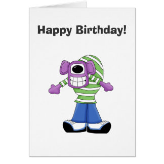 Monster Mash · Purple One-Eyed Monster Greeting Card