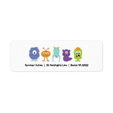 Halloween Themed Monster Mash Return Address Label