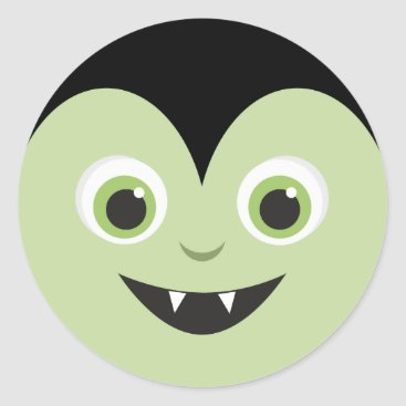 Halloween Themed Monster Mash | Vampire Halloween Classic Round Sticker