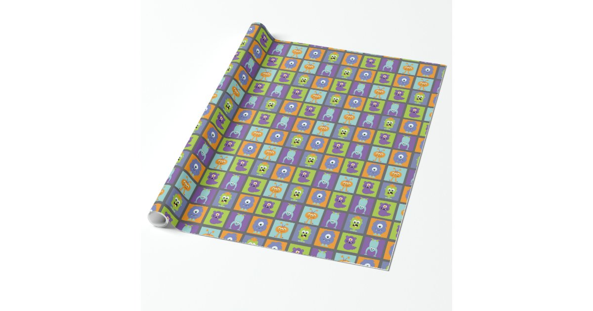 Monster mash wrapping paper zazzle for Paper mashing art