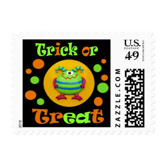 Monster Moon Halloween Party Postage