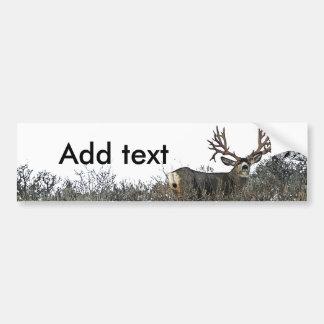 Monster mule deer 2 bumper sticker