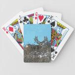 Monster mule deer buck bicycle playing cards