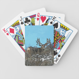 Monster mule deer buck bicycle playing cards