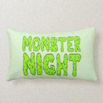Monster Night Green Goo | Halloween Pillow