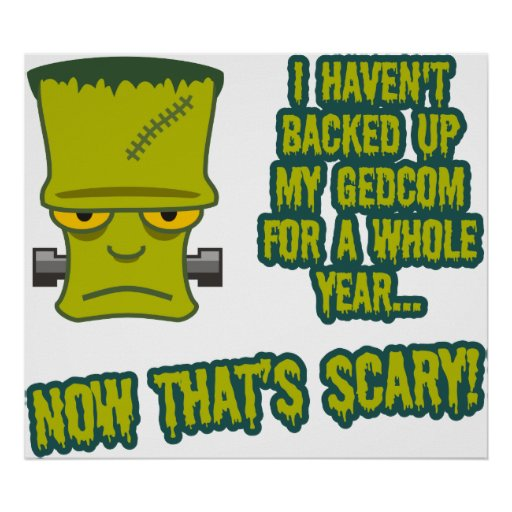 Monster - No GEDCOM Backup Poster