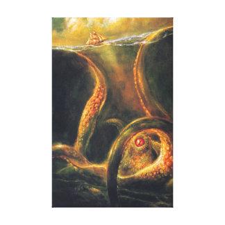 Monster Octopus Canvas Print
