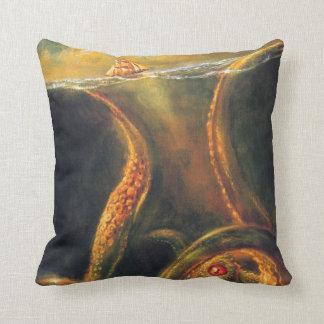 Monster Octopus Throw Pillows