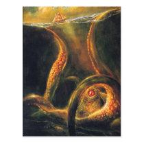 Monster Octopus Postcard