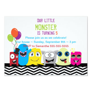 Monster Of A Good Time Birthday Party Invitation