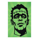 Monster of frankenstein design personalized stationery