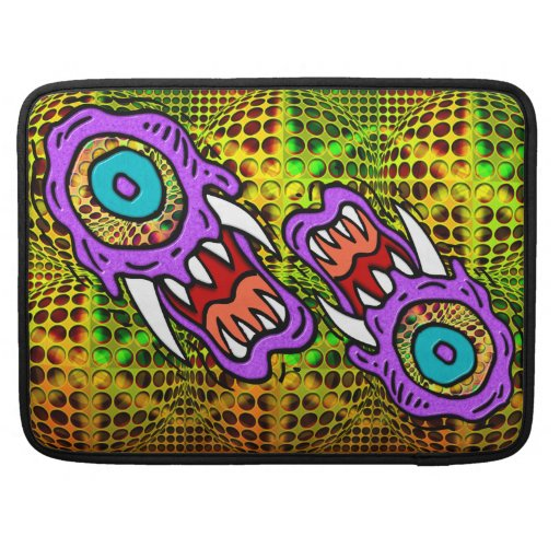 Monster on Psychedelic Background MacBook Pro Sleeves