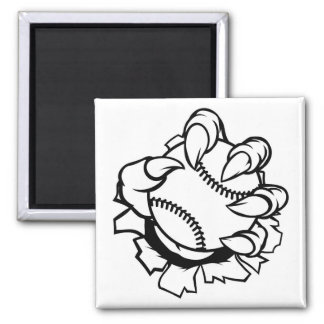 Monster or animal claw holding Baseball Ball Magnet