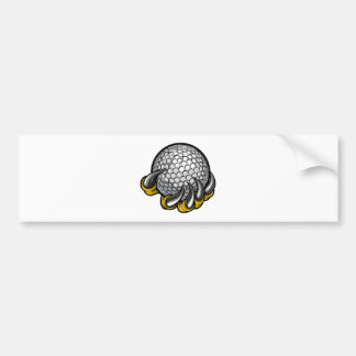 Monster or animal claw holding Golf Ball Bumper Sticker