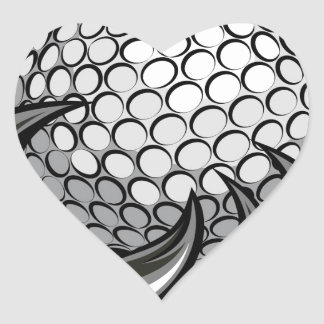 Monster or animal claw holding Golf Ball Heart Sticker