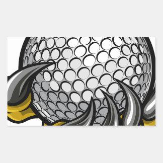 Monster or animal claw holding Golf Ball Rectangular Sticker