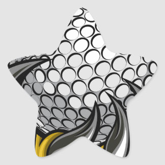 Monster or animal claw holding Golf Ball Star Sticker