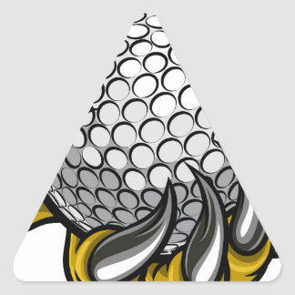 Monster or animal claw holding Golf Ball Triangle Sticker