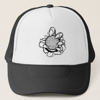 Monster or animal claw holding Golf Ball Trucker Hat