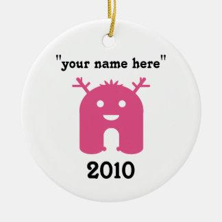 Monster Ornament - Pinks