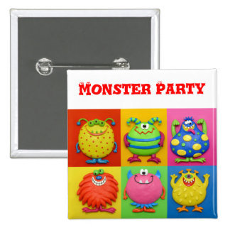 Monster Party Pins