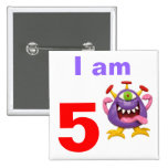 Monster Party Buttons