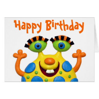 Monster Party Greeting Card