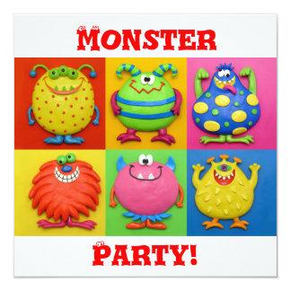 Monster Party Custom Invitation