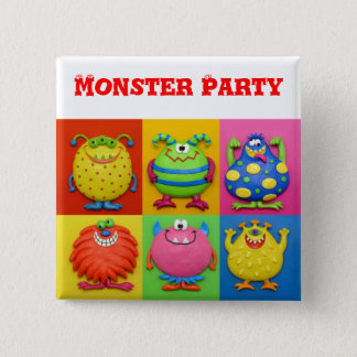 Monster Party Pinback Button