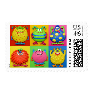 Monster Party Postage Stamps