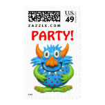Monster Party Postage Stamp