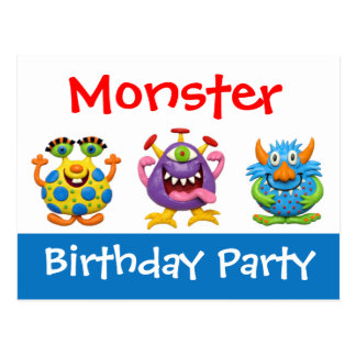 Monster Party Postcards