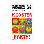 Monster Party Stamps