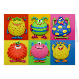 Monster Party Thank You Cards