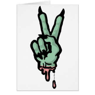 Monster Peace Sign Card