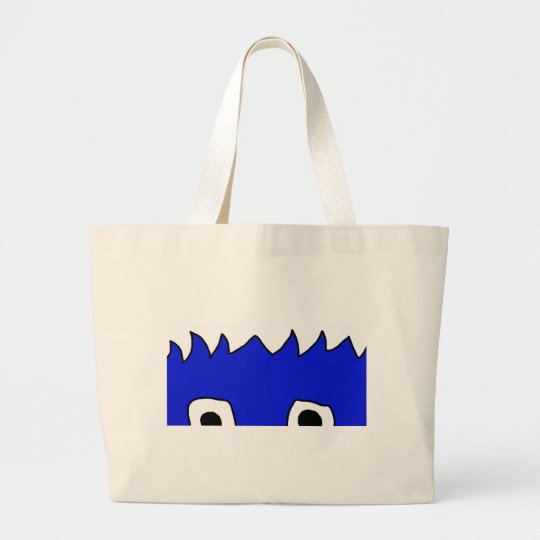 monster peek large tote bag