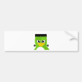 Monster Penguin Car Bumper Sticker