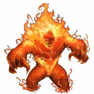 Monster Photo Sculpture - Fire Elemental