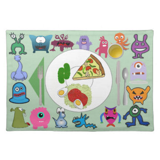 Monster placemat with correct placements & food
