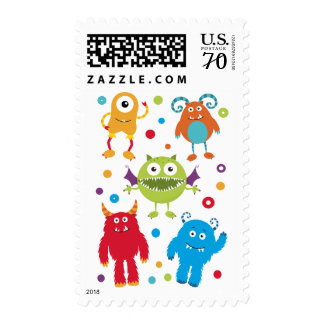 Monster Postage Stamps for Kids Birthday Party