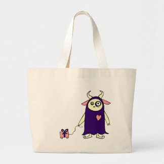 Monster Present Large Tote Bag