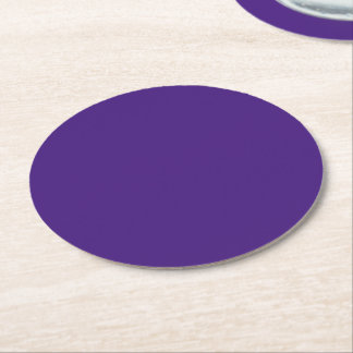 Monster Purple Round Paper Coaster