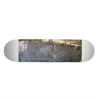 Monster pussy and weed skateboard deck