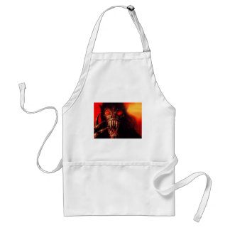 monster red eyes with fangs adult apron