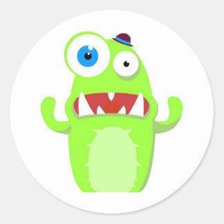 Monster Round Stickers