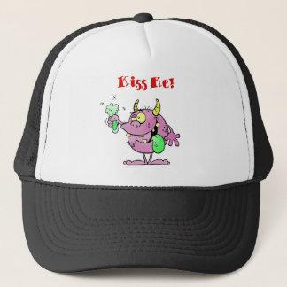Monster Saying Kiss Me! Trucker Hat