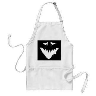 Monster Scary Face, in White. Aprons